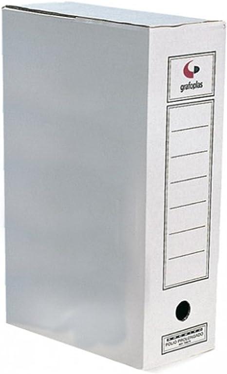Grafoplas - Caja 10 archivador definitivo carton 385x275x115: Amazon.es: Informática