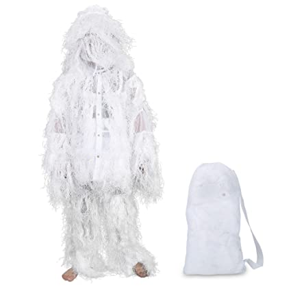 e0ce198061f33 Amazon.com : VGEBY Hunting Suit White, Leafy Woodland Clothing for ...