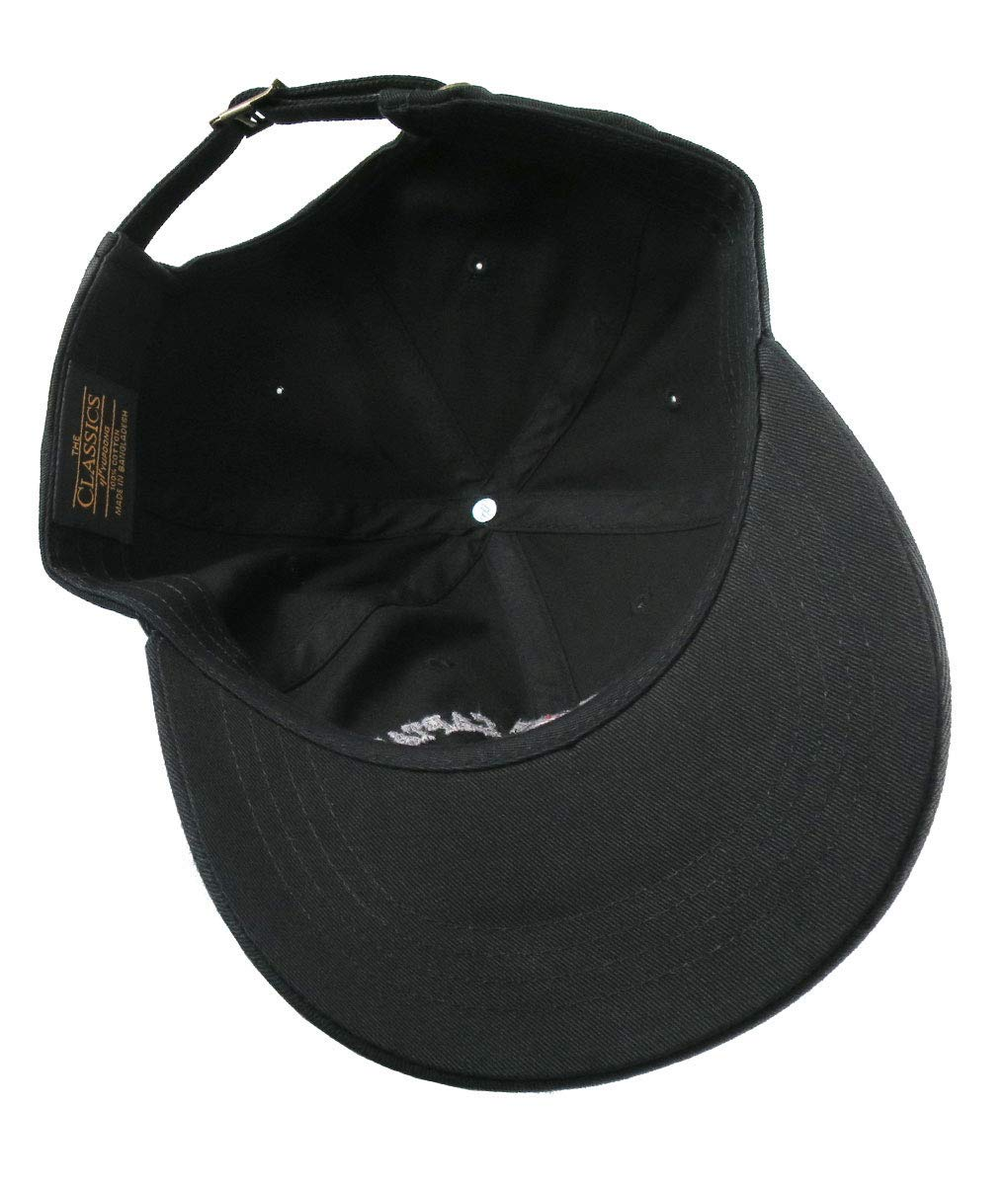 Work Like A Captain Play Like A Pirate Embroidery on an Adjustable Black Unstructured Baseball Cap Dad Hat Option to Personalize the Back