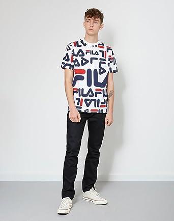 64d734b9 Fila Vintage Men's Logan T-Shirt, White, X-Large: Amazon.co.uk: Clothing