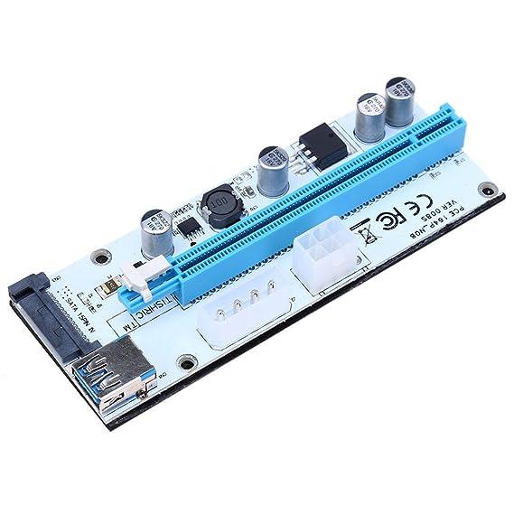 Hillrong PCI-E Riser - Cable alargador (PCI-E extendido, 1 x a 16 ...