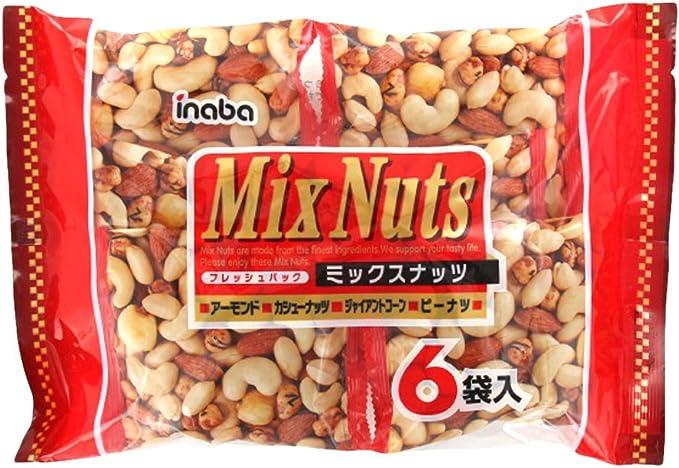 稲葉ピーナツ 6袋ミックスナッツ 132g