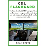 CDL Flashcard: Contain about 400 CDL test questions and answers on general knowledge, pre-trip inspection, air brake, HazMat
