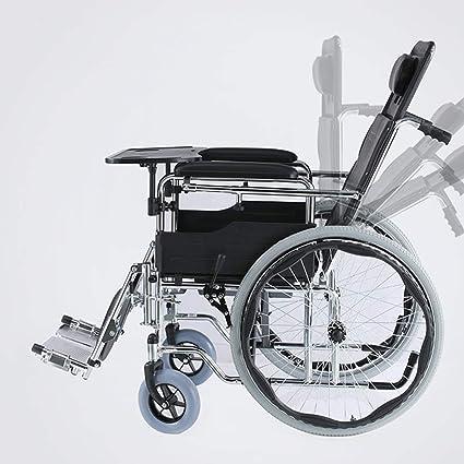 Transporte Silla De Ruedas Con WC Ancianos Disabledfull Posición De Mentira Alta Almohada Multi-Funcional
