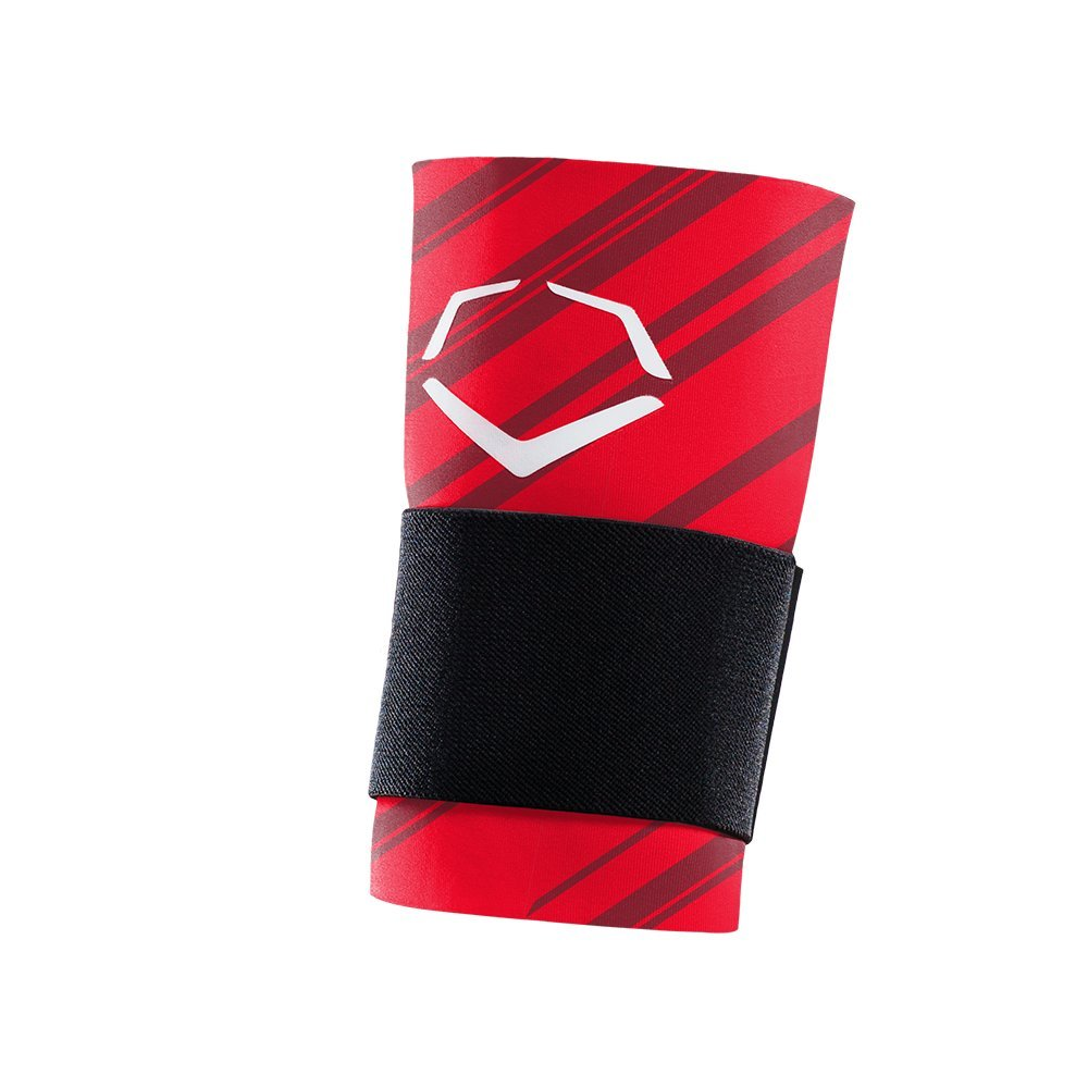 Evoshield Mlb Speed Stripe Wrist Guard With Strap Red Large