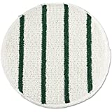 "Rubbermaid RCP P269 Low Profile Scrub-Strip Carpet Bonnet, 19"" Dia, White/Green"