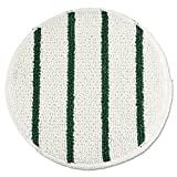Rubbermaid Commercial RCP P269 Low Profile Scrub-Strip Carpet Bonnet, 19'' Diameter, 5 Pads per Pack, White/Green (Pack of 5)