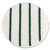Rubbermaid Commercial RCP P269 Low Profile Scrub-Strip Carpet Bonnet, 19'' Diameter, 5 Pads per Pack, White/Green (Pack of 5)