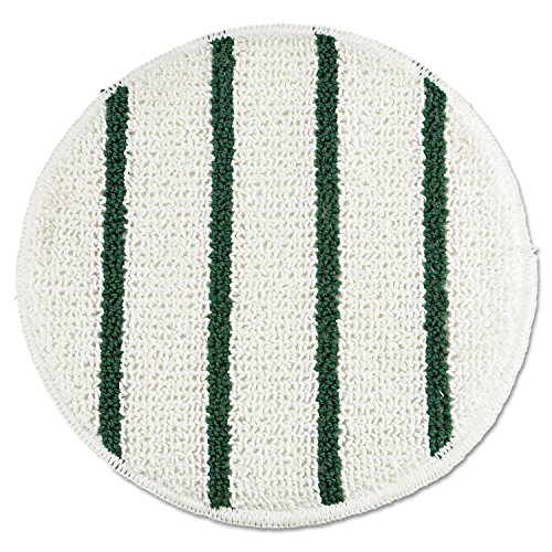 Rubbermaid Commercial RCP P269 Low Profile Scrub-Strip Carpet Bonnet, 19'' Diameter, 5 Pads per Pack, White/Green (Pack of 5) by Rubbermaid Commercial