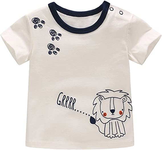 Boys /& Girls Pure Cotton Clothing Baby T-Shirts 2 Pack of Short Sleeved Baby Tops