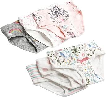 BOZEVON 6 Pack Bragas para Bebés Niñas - 100% Algodón Cómodo y ...