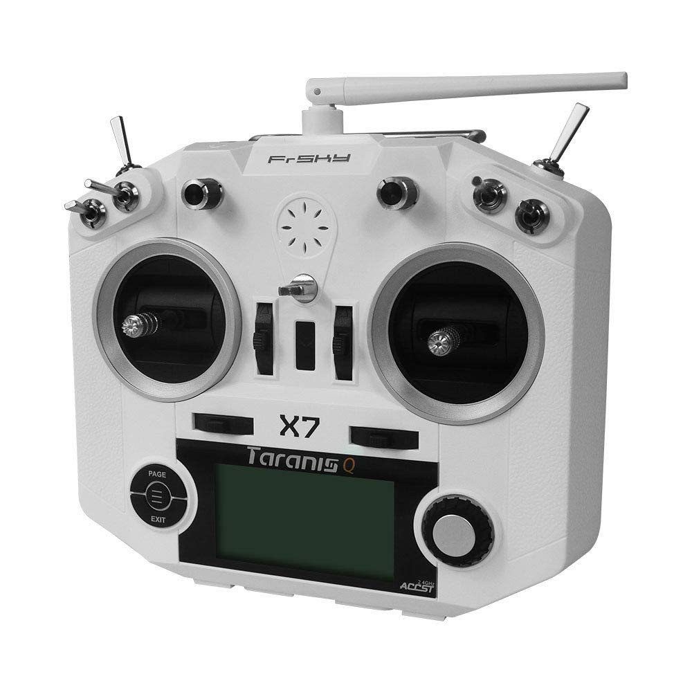 FrSky 2 4G Accst Taranis Q X7 16 Channels Transmitter Remote Controller  White Battery and Battery Trays Not Include