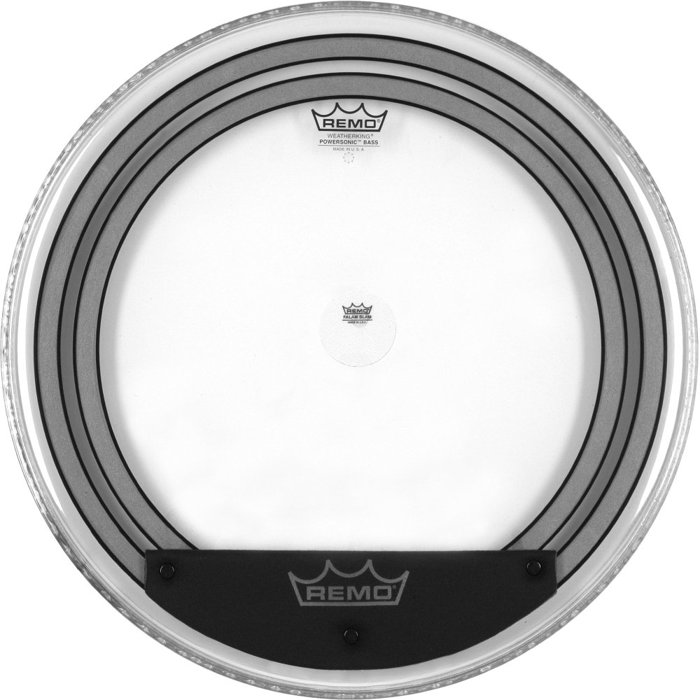 Remo Powersonic Clear Bass Drum Head, 22-inch PW-1322-00