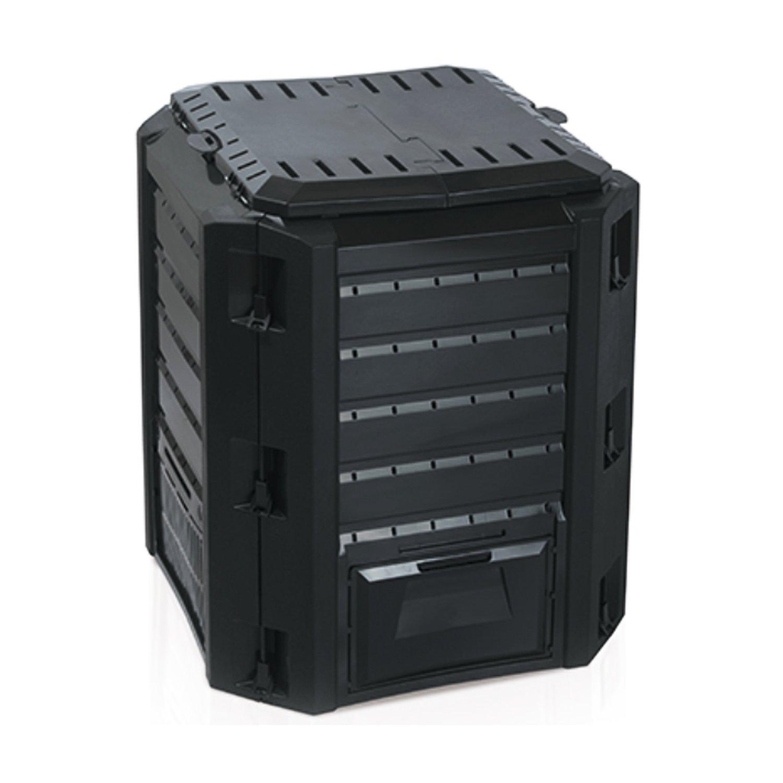 Compostador Composter - Compostador 380L Negro Top calidad tapa ...