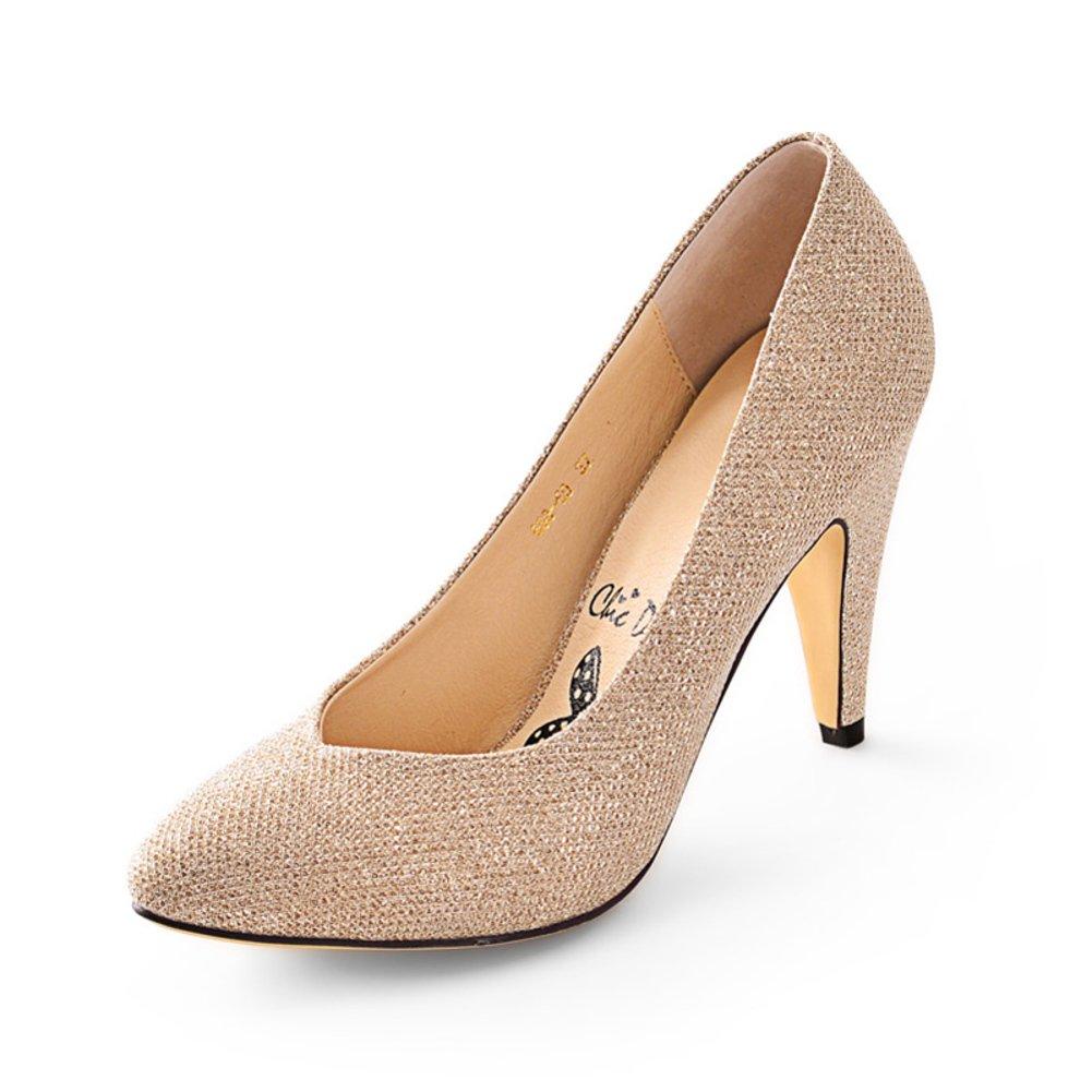 WLJSLLZYQ Eleganten Pailletten zeigte Stiletto Schuhe Bequeme Schuhe mit high-Light/Bequeme Schuhe mit hohen Absätzen Flacher Mund B