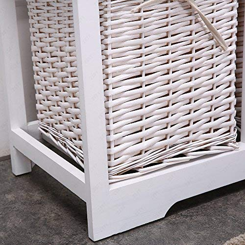 Mecor Bedside Cabinet White Chest Of Drawers Storage Unit