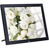 Minidiva 15Inch 4:3 Digital Photo Frame - 1024x768 High Solution Electronic Picture Frame with USB,USB mini,SD Interface(Black)