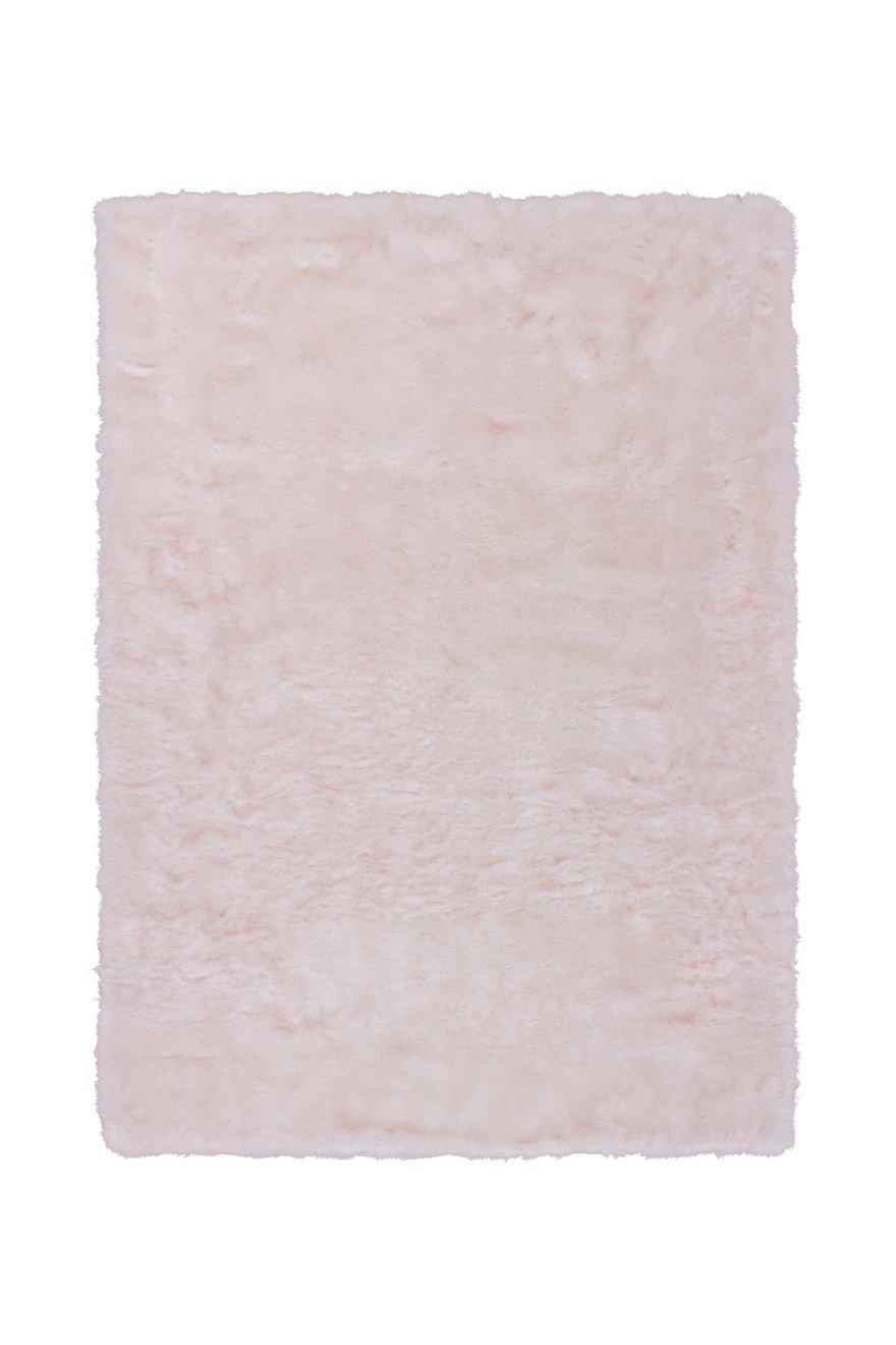 Teppich Wohnzimmer Carpet Hochflor Shaggy Design Crown 110 Rug Pastellfarbe Muster Polyester 160x230 cm Weiß Teppiche günstig online kaufen