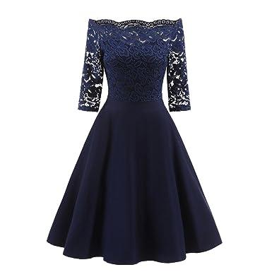 vestidos de fiesta para bodas, Sannysis vestidos invierno mujer largos de noche Vestido de hombro
