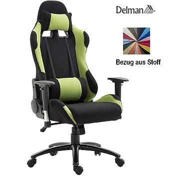 Gamer Racing Bürostuhl aus Stoff als Schalensitz in schwarz rot