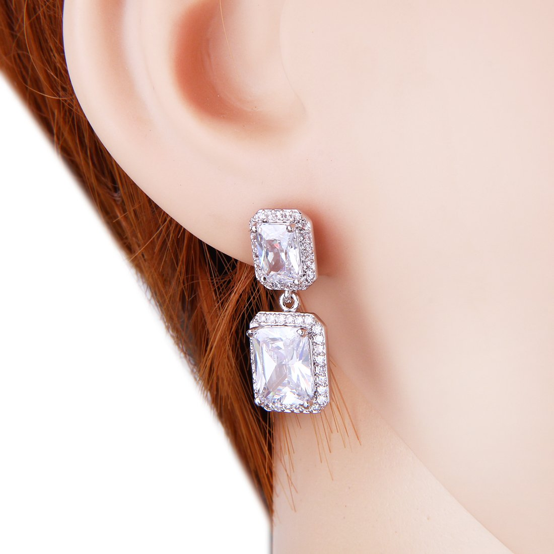 Wordless Love Jewelry Sets for Women Cubic Zirconia Party Earrings Pendant Necklace Set by Wordless Love (Image #3)