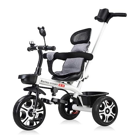 Trikes- 3 Ruedas Blancas para niños pequeños, Bicicleta con ...
