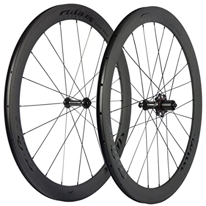 Carbon Fiber Road Bike >> Amazon Com Willee Bike 50mm Carbon Wheelset 23mm Clincher 3k Twill