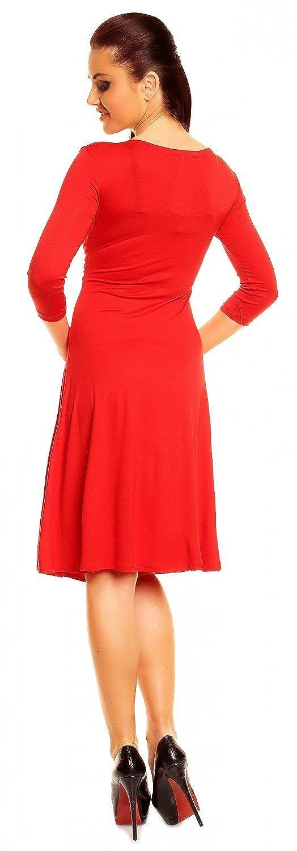 Zeta Ville Damen Ausgestellter Schnitt Swing-Kleid Sommerkleid Cocktailkleid 282z