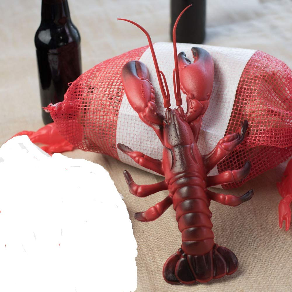 Plastic Crawfish-Lobster Red sack Seafood Boil party table Decoration Decor