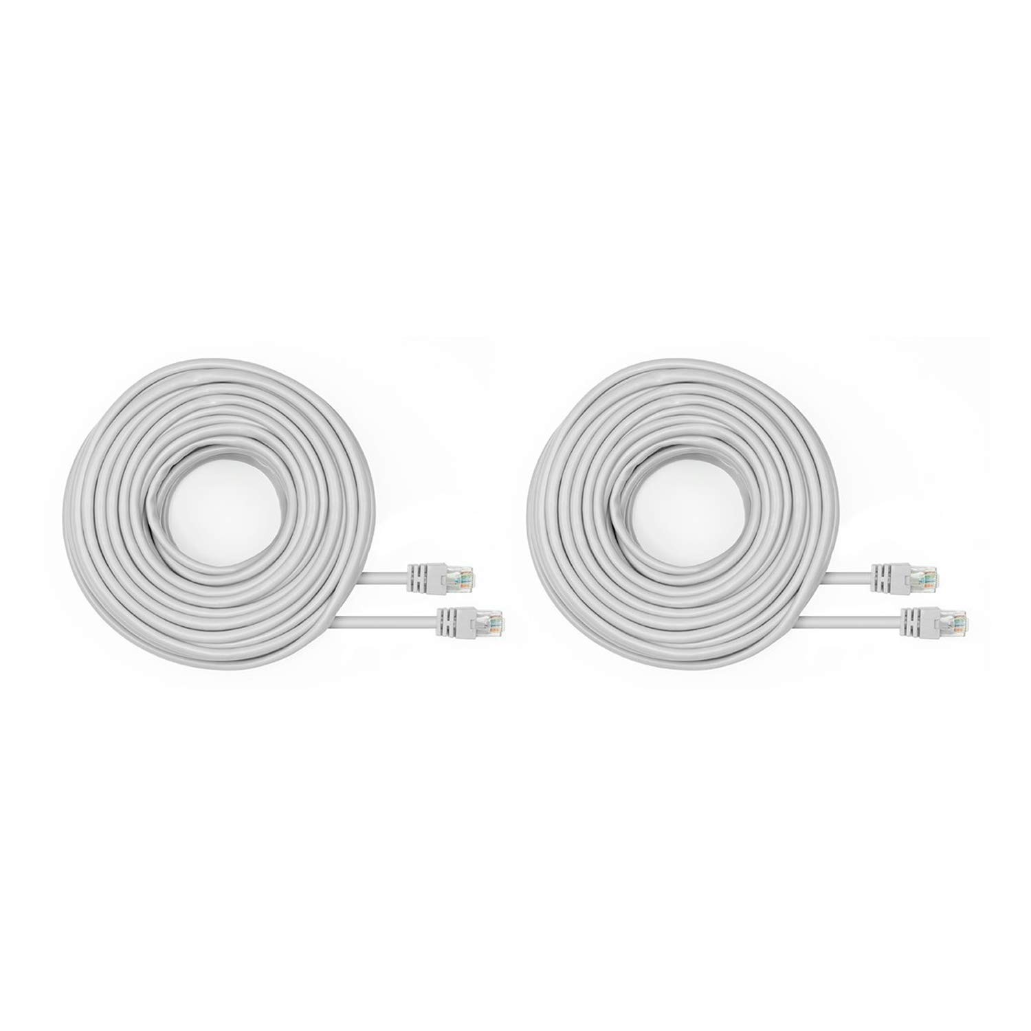 Amcrest Cat5e 100ft Ethernet Cable Internet High Speed Network Cable for POE Security Cameras, Smart TV, PS4, Xbox One, Router, Laptop, Computer, Home, 2-Pack (2PACK-CAT5ECABLE100)