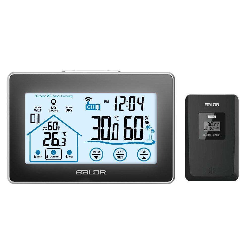 2019 Digoo LCD-Bildschirm Indoor Outdoor Thermometer Funk-Wetterstation