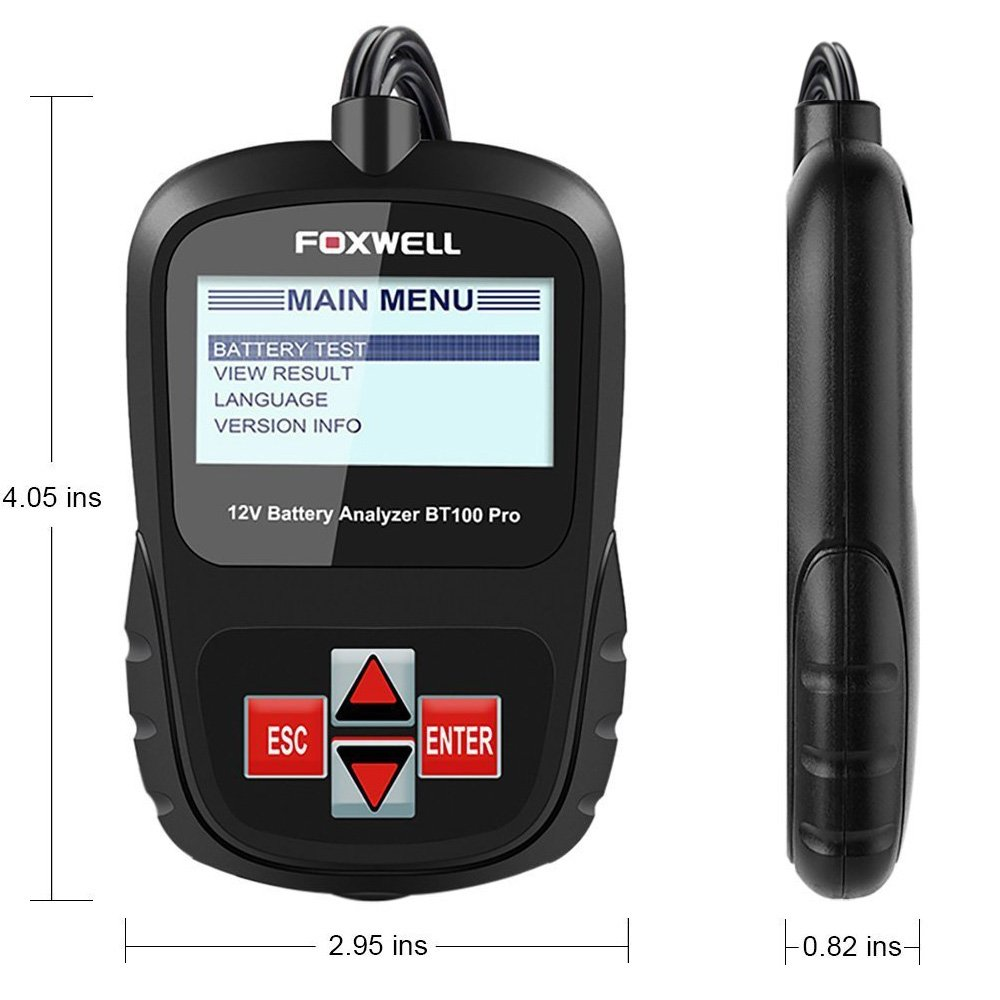 New Fashion 12v Car Battery Tester Analyzer Foxwell Bt100 Pro 100-1100 Cca 30-200 Ah Automotive 12 Voltage Battery Load Tester Faults 100% Original Charging & Starting Systems Battery Measurement Units