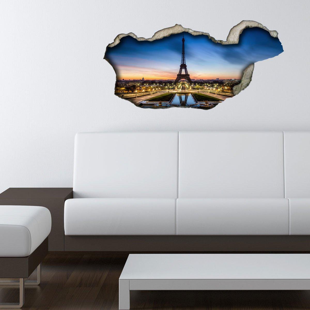 Relativ NEU 3D Wandsticker 3D-Optik Eiffelturm Paris Wanddeko 3D YR55