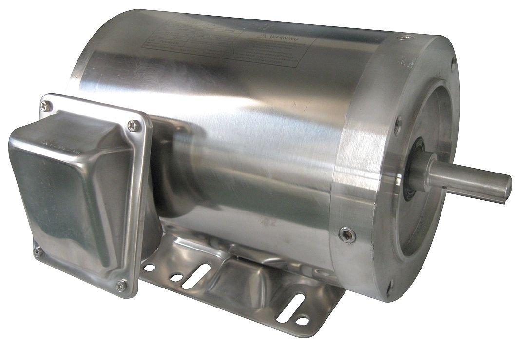 Washdown Motor, 3 Ph, TENV, 3/4 HP, 1745 RPM