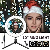 Harmonic Ring Light,10'' O Ring Light with Stand,Phone LED Ring Light with 3 Light Modes and 11 Brightness Level for Camera,Smartphone,YouTube Video,Live Streaming