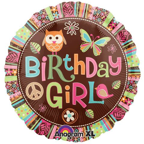 (Anagram International Hx Hippie Chick Birthday Balloon,)