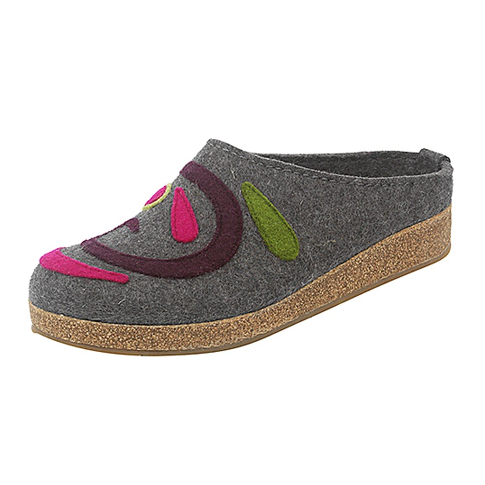 Haflinger Harmony Grey Womens Slippers Size 41M