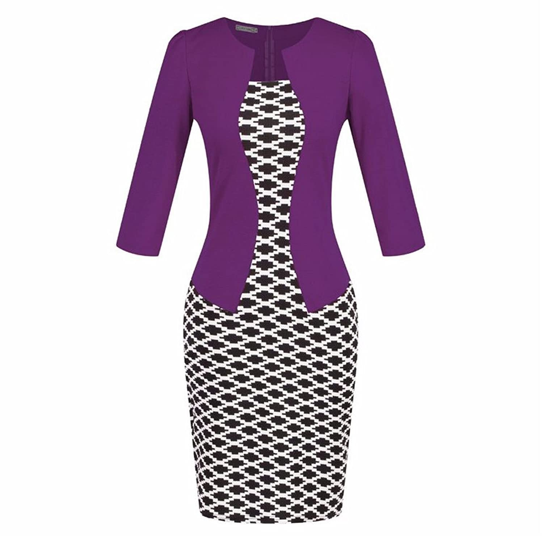 Summer Two-Piece Big Size European Style Elegant Pencil Dresses 20 (XL)