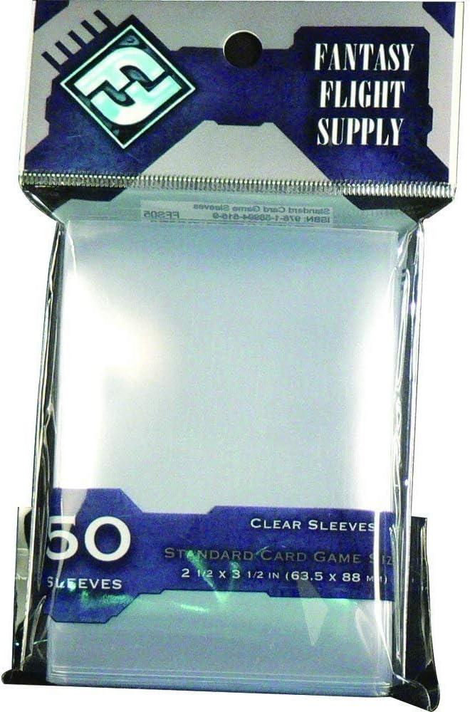 Yellow 50x FFG Clear Mini American Card Sleeves Fantasy Flight Games