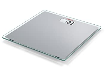 Soehnle 63538 Digitale Glaswaage Personenwaage Slim Design Silber