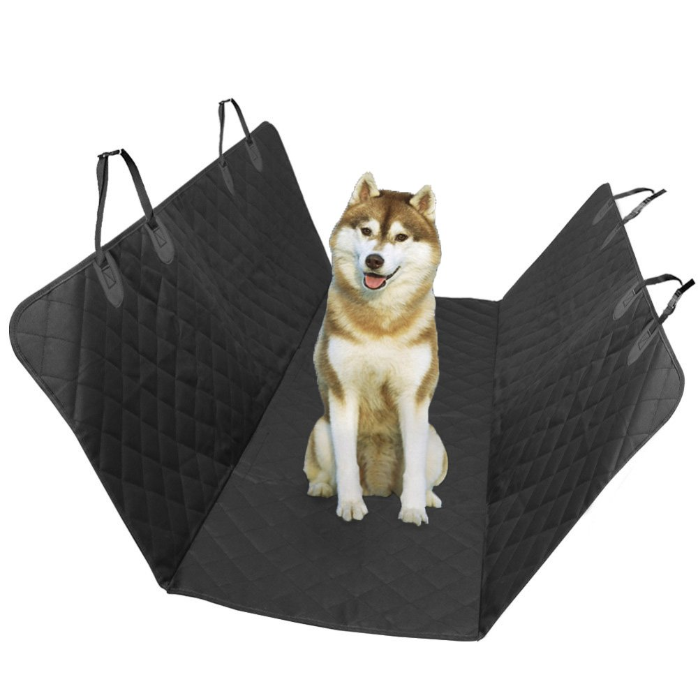 Isali Black Waterproof & Nonslip Backing Car Pet Seat Cover Hammock Congreenible Pet Mat for Cars Dog Carriers