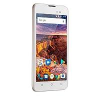 Smartphone Multilaser MS50L 8GB, Tela de 5` 8MP 3G - Branco e Dourado