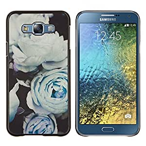 Eason Shop / Premium SLIM PC / Aliminium Casa Carcasa Funda Case Bandera Cover - Rosas blancas Composición Arte - For Samsung Galaxy E7 E700