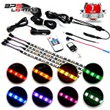 BPS Lighting LED Atmosphere Lighting Kit W/ FullColor Technology Cars-Trucks Wireless Wifi IR Remote Control and 12V Lighter Outlet - FootWell Neon Dash Floor - Under Seat Strip