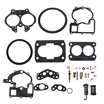 Unepart Carburetor Rebuild Kit for Mercury Marine 3.0L 4.3L 5.0L 5.7L Mercarb 2 BBL Carburetor 3302-804844002 1389-9562A1 1389-9563A1 1389-9564A1 1389-9670A2 1389-806077A2 (Without float): Automotive
