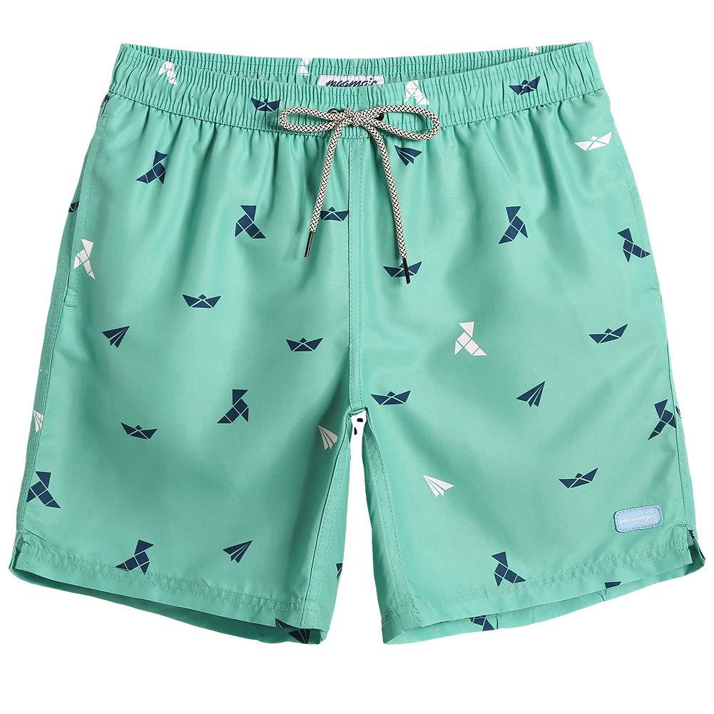MaaMgic Mens Slim Fit Quick Dry Swim Shorts Funny