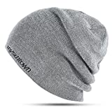 Search : Mysuntown Unisex Beanie Hats for Men and Women Slouchy Winter Hat, Warm Double-Sided Knit Cap