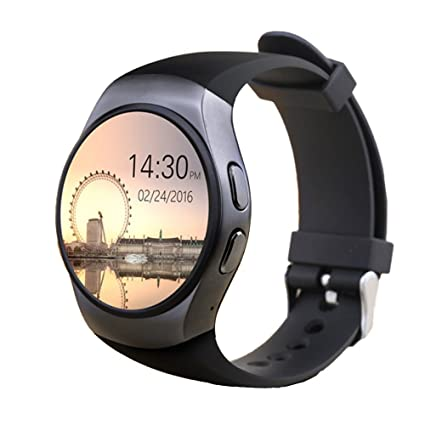 KW18 Bluetooth Smart Watch SIM y tarjeta de TF ritmo cardíaco reloj Smartwatch portátil compatible para