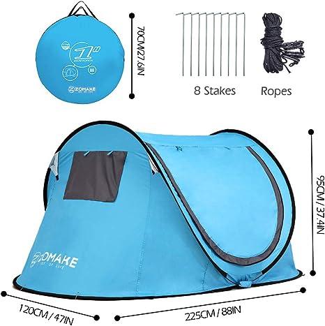 ZOMAKE Tienda de Playa Tienda f/ácil de Instalar para 2-3 Personas con protecci/ón UV