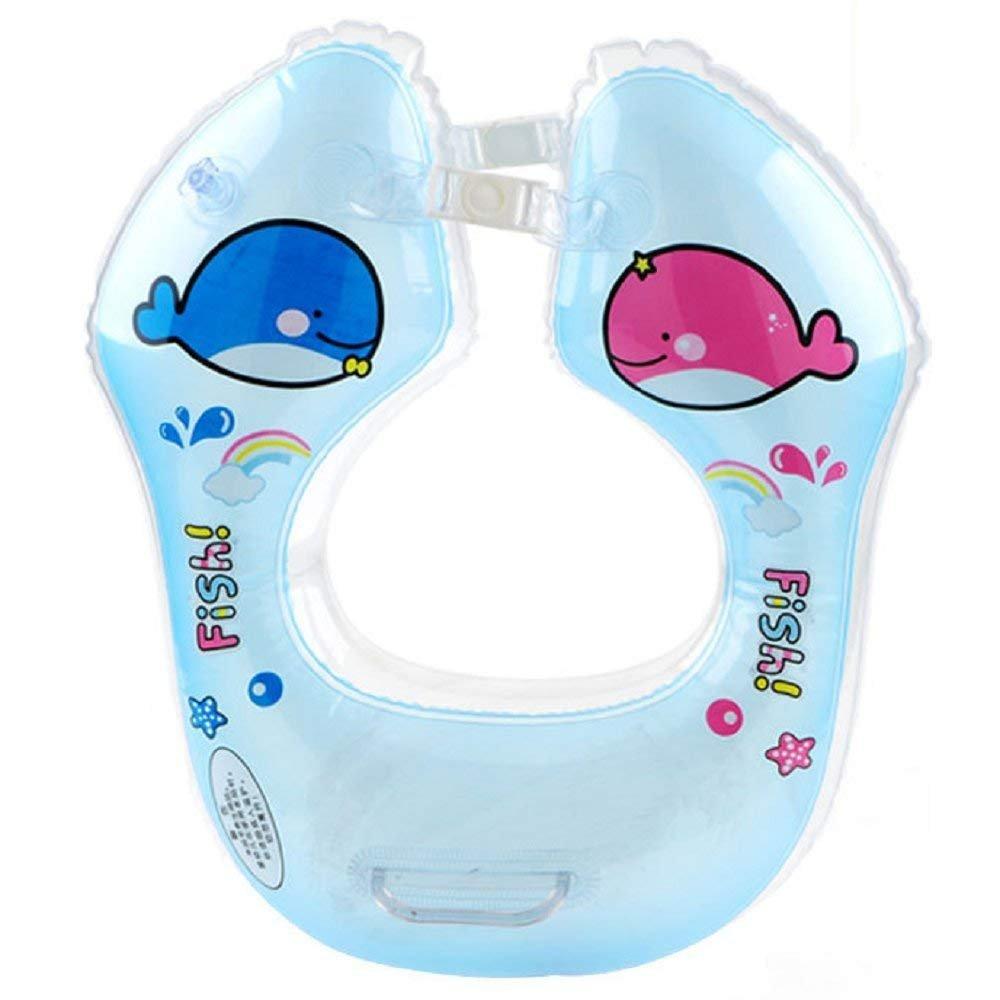 ForuMall Flotador de Doble Airbags Engrosada Ajustable de Cuello para Bebé de 1-18 Meses Bebé(Azul): Amazon.es: Deportes y aire libre